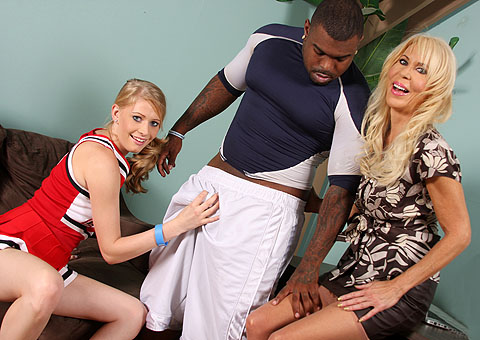 Three strippers play rough